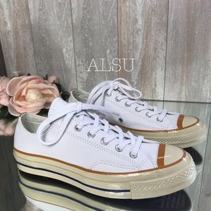 Converse Chuck 70 Leather OX White Turmeric W